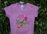 Personalized Appliqued Monogram Birthday Tee Shirt - Custom Made Sizes 3 mos-Youth 12