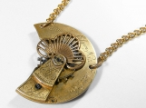 Steampunk Antique Pocket Watch Parts Pendant Necklace