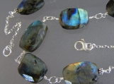 Faceted Labradorite Chunk Necklace