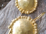 Gold plated Sterling silver dangle earrings