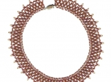 Netted Bead Choker - Earth Tones