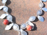 Sterling necklace Daphne's garland