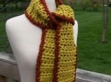 Saffron & Mahoghany Crocheted Scarf