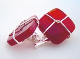 sterling silver wired gemstone cufflinks