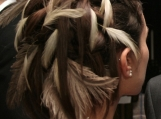 White Clouds Feather hair pins