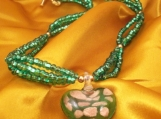 Green with Envy Glass Heart Necklace