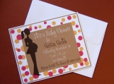 Personalized Polka Dot Baby Shower Invitations