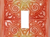 Sunny Mandala Decorative Light Switch Plate