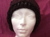 Fun Brownish with a Sparkle  Knitted Hat
