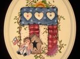 American Heritage Rag Doll Plaque