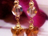 Handmade 14K Gold Filled Swarovski Earrings Butterfly Col Choice