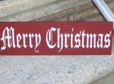 Merry Christmas Wood Vinyl Sign - Home Decor Prim Decoration
