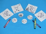 Color me stickers: Mermaid set of 8 stickers to color