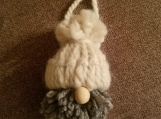 Gnome Ornament- white