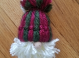 Gnome Ornament- red and green striped