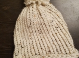Oatmeal colored knitted Hat