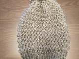 Silver colored knitted Hat
