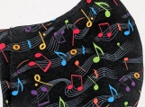 Music notes print reusable fabric face mask for adults