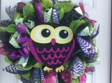 Glittery Owl Wreath