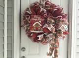 Home Sweet Home Gingerbread Wreath
