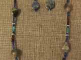 Jasper and Czech Glass Necklace and Earring set
