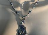 Rainbow titanium peacock necklace earring set 6