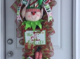 The Elf Did It Swag Wreath