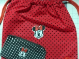 """""""Minnie Mouse"""" Drawstring Backpack"""