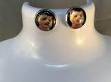 Silver Yorkie dog stud earrings free shipping 6