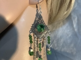Peridot green chandelier earrings 38