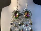 Rainbow titanium chandelier earrings 23
