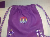 """""""Tie-dyed Peace"""" Drawsting Backpack"""