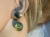 Yellow green dream catcher earrings 29