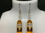 Corona bottle beer dangly earrings 45