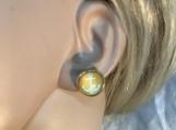 Gold aqua blue anchor nautical stud earrings 46