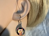 Pmc Silver Yorkie dog earrings 55