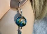 Pmc Aqua mermaid necklace earring set 28