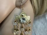 Pmc Gold clear crystal chandelier earrings 66