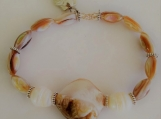 Shell Stretch Bracelet with Fresh Water Pearls