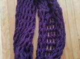 Chunky Purple Infinity Scarf