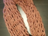 Chunky Rose Pink Infinity Scarf