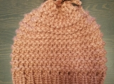 Rose pink knitted hat