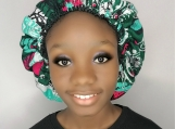 Satin Lined Ankara Print Hair Bonnet
