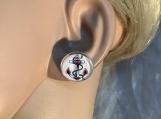 Red white blue anchor stud earrings 73