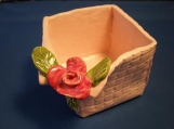 Basket Weave Rose Box