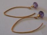 Essensual - Sparkly amethyst onion cut earrings