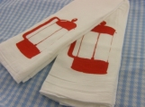 French Press Kitchen Towel Set - Red