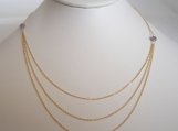Triple the trouble - Rare Tanzanite faceted roundele 3 strands gold filled necklace