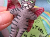 Plush Celestial Cat Tiny Mini Cat Doll Totally Flealess Pin