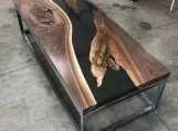 Live Edge Coffee Tables | Live Edge Solid Wood | River Live Edge Coffee Table